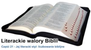 Jej literacki styl: liczbowanie biblijne