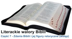 Zdania Biblii i jej figury retoryczne (Wstęp)