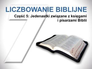 Jedenastki związane z księgami i pisarzami Biblii