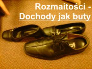 Rozmaitości - dochody jak buty