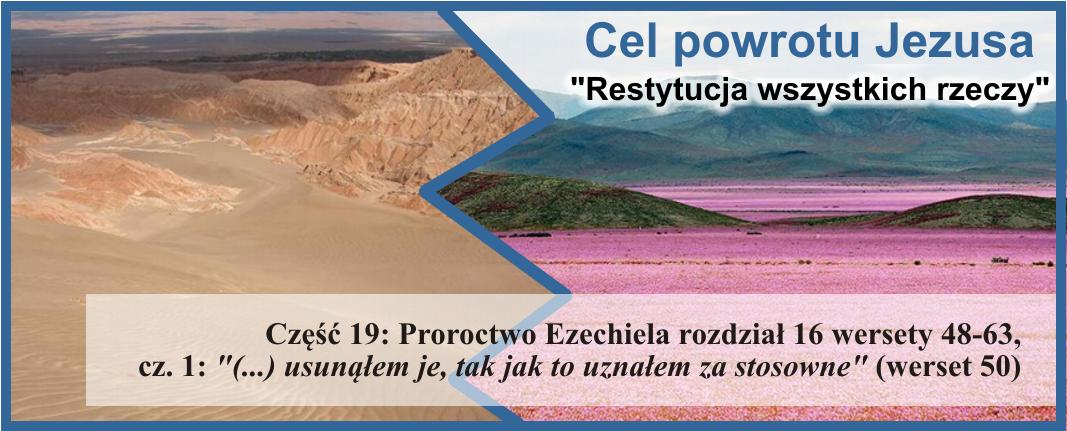 Proroctwo Ezechiela 16:48-63, cz.1: '(...) usunąłem je, tak jak to uznałem za stosowne'