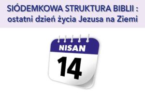 Siódemkowa struktura Biblii: Ostatni dzień życia Jezusa na Ziemi