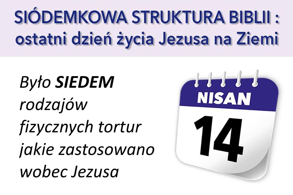 Było SIEDEM rodzajów fizycznych tortur jakie zastosowano wobec Jezusa