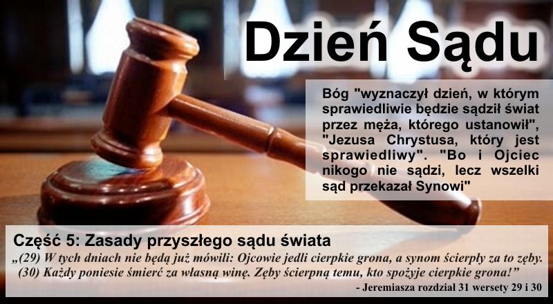 Zasady przyszłego sądu świata