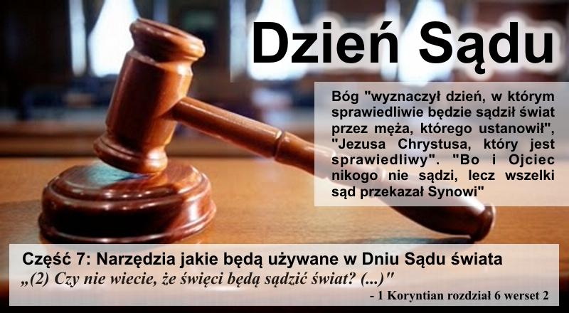 Narzędzia jakie będą używane w Dniu Sądu świata