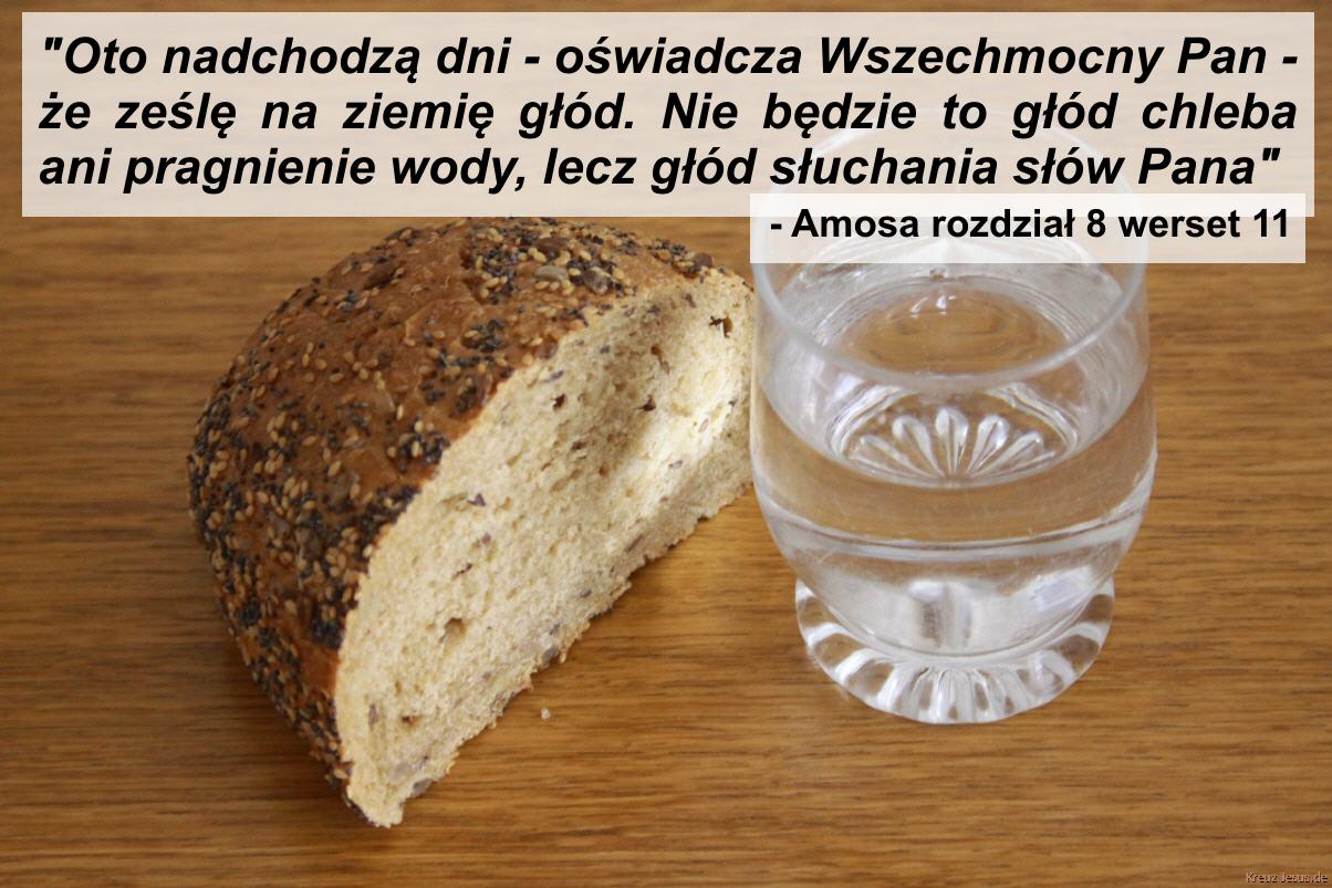 Nie głód chleba ani pragnienie wody, lecz głód słuchania słów PANA