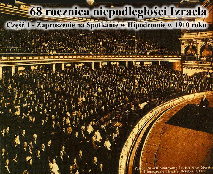 Zaproszenie na Spotkanie w Hipodromie w 1910 roku