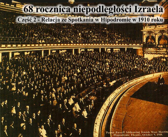 Relacja ze spotkania w Hipodromie w 1910 roku