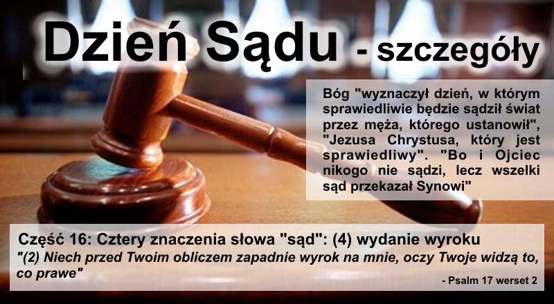 """Cztery znaczenia słowa """"sąd"""" – (4) wydanie wyroku"""