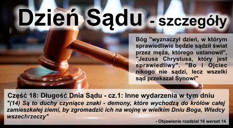 Długość Dnia Sądu - cz.1: Inne wydarzenia w tym dniu