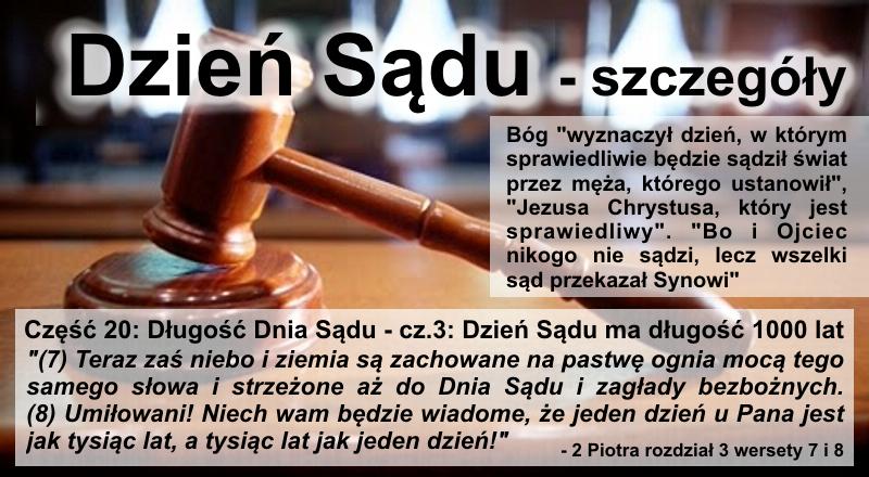 Długość Dnia Sądu - cz.3: Dzień Sądu ma długość 1000 lat