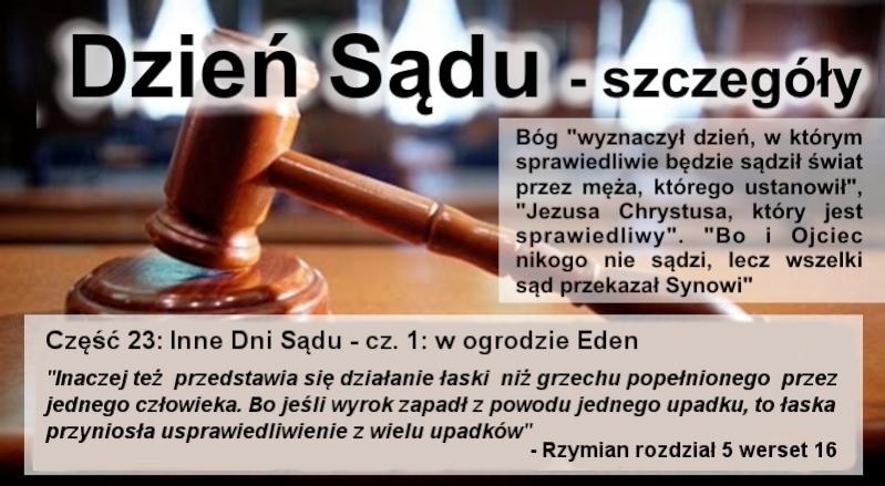 Inne Dni Sądu - cz.1: w ogrodzie Eden