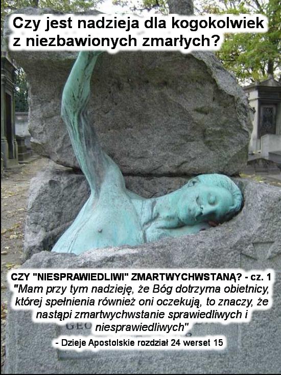 Czy 'niesprawiedliwi' zmartwychwstaną? - cz.1