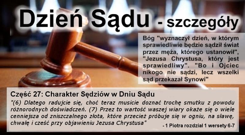 Charakter Sędziów w Dniu Sądu