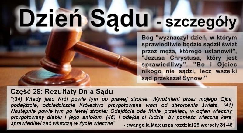 Rezultaty Dnia Sądu