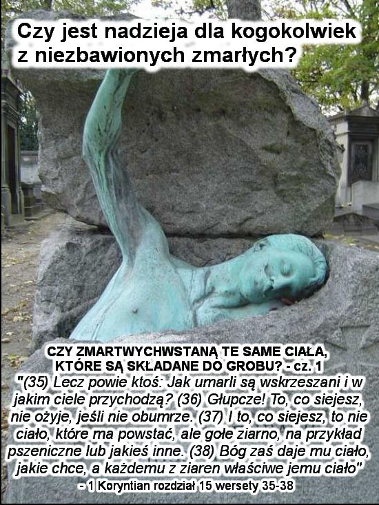 Czy zmartwychwstaną te same ciała, które są składane do grobu? Część 1