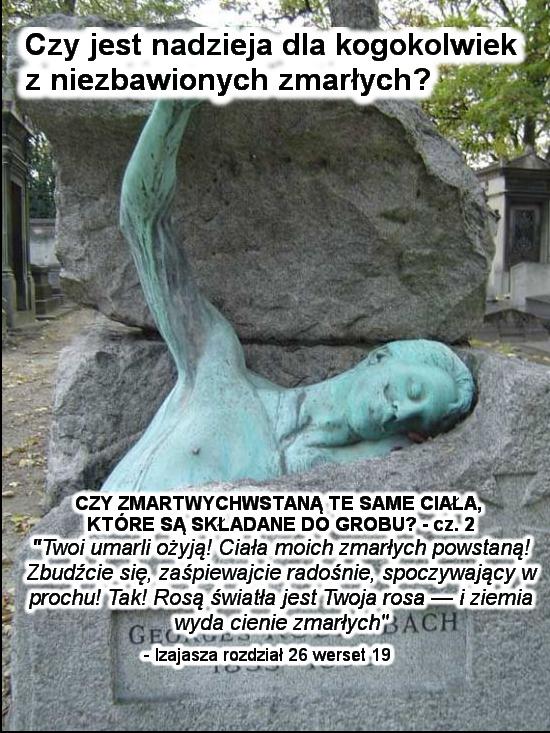 Czy zmartwychwstaną te same ciała, które są składane do grobu? Część 2
