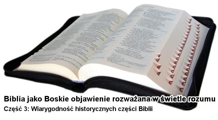 Wiarygodność historycznych części Biblii