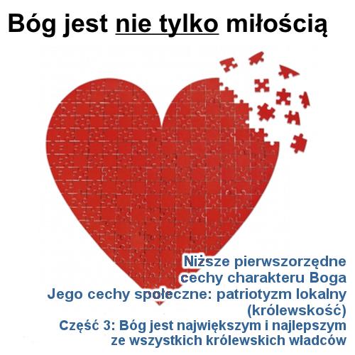 Jego cechy społeczne: patriotyzm lokalny - cz.3: Bóg jest największym i najlepszym ze wszystkich królewskich władców