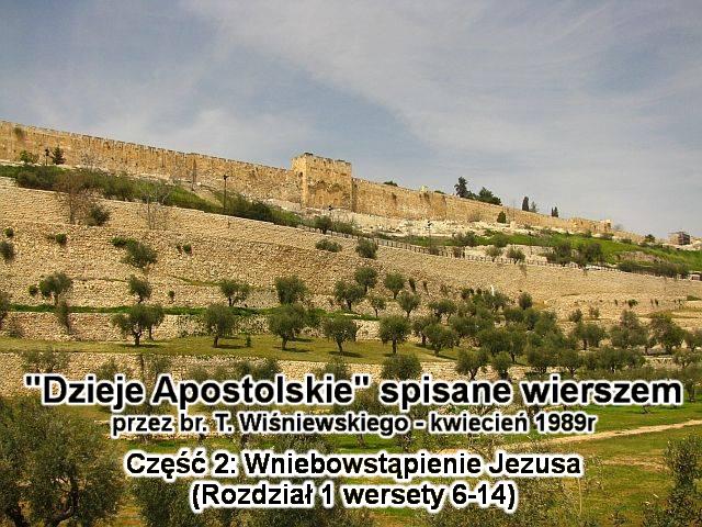 Wniebowstąpienie Jezusa (rozdział 1 wersety 6-14)