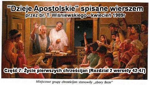 Życie pierwszych chrześcijan (rozdział 2 wersety 42-47)