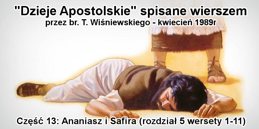 Ananiasz i Safira (rozdział 5 wersety 1-11)