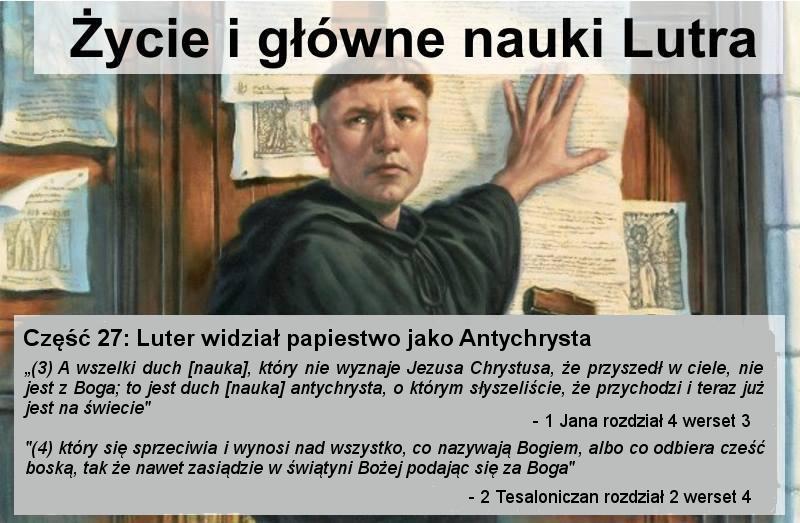 Luter widział papiestwo jako Antychrysta