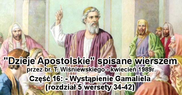 Wystąpienie Gamaliela (rozdział 5 wersety 34-42)