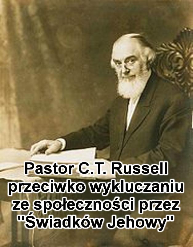 Na zdjęciu jest pastor C.T. Russell siedzący na krześle przy biurku, na którym rozłożone są książki. Jest ubrany w garnitur z białą koszulą, na nosie ma okulary, jego wzrok jest skierowany na robiącego zdjęcie. Na zdjęciu jest napisany tytuł artykułu.