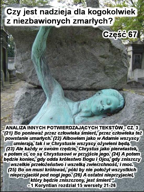 Analiza innych potwierdzających tekstów - cz.3